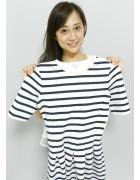 秋元リコさん☆ボーダーのかわいいワンピース☆