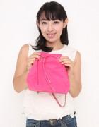 藤川奈緒 未使用の『dazzlin』ピンクの巾着バッグ