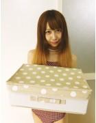 ☆結月こころ直筆サイン入りドット柄BOX(ベージュ×白)☆