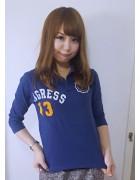 ☆小倉あいか直筆サイン入り七分袖ポロシャツ(紺)☆