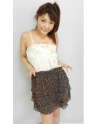 今村ちかさん☆花柄のふりふりのかわいいスカート☆