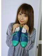 ☆結月こころ直筆サイン入り革靴(紺×エメラルド)☆