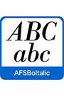 AFS復刻欧文フォント AFSBoItalic