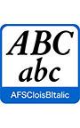 AFS復刻欧文フォント AFSCloisBItalic
