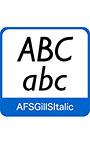 AFS復刻欧文フォント AFSGillSItalic