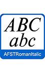 AFS復刻欧文フォント AFSTRomanItalic