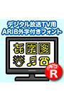 AFS デジタル放送TV用ARIB外字付きフォント R