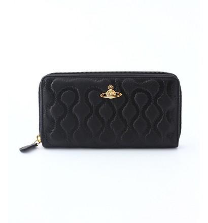 激安通販ブラック×ブラウンカーフレザー長財布(ラウンドファスナー)/Vivienne...Vivienne Westwoodヴィヴィアン・ウエストウッド
