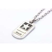 激安通販フラットスタープレートネックレス/D&G