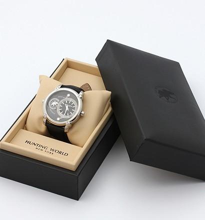 激安通販ダブルワールド牛革クォーツ腕時計/HUNTING WORLDHUNTING WORLDハンティングワールド