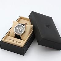 激安通販ダブルワールド牛革クォーツ腕時計/HUNTING WORLD