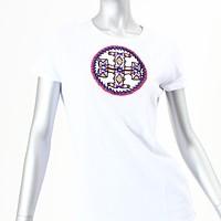 激安通販半袖ビーズロゴTシャツ/Tory Burch
