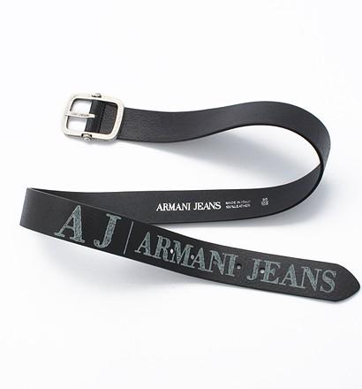 激安通販ピンバックル ロゴプリント ベルト/ARMANIARMANIアルマーニ