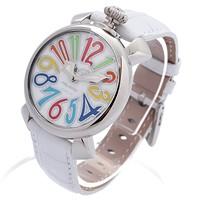 激安通販ステンレス・カーフベルト イタリア製手巻き腕時計/GAGA MILANO
