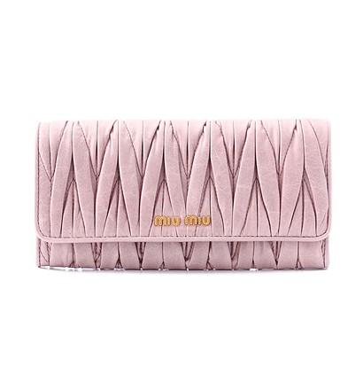 激安通販マテラッセ長財布(二つ折り)/MIUMIUMIUMIUミュウミュウ
