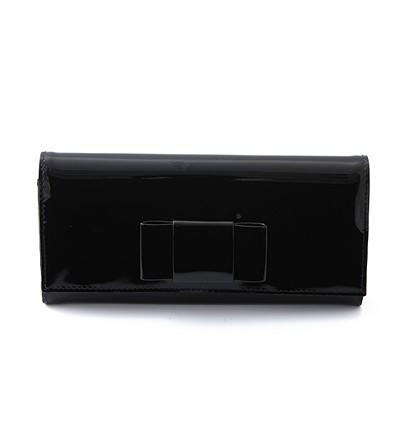 激安通販VERNICE FIOCCO リボン付きエナメル長財布(二つ折)/MIUMI...MIUMIUミュウミュウ