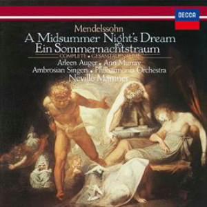 マリナー/メンデルスゾーン:劇音楽「真夏の夜の夢」