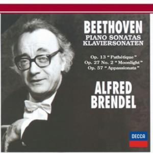 ブレンデル/ベートーヴェン:ピアノ・ソナタ第8番「悲愴」&第14番「月光」&第23番「熱情」