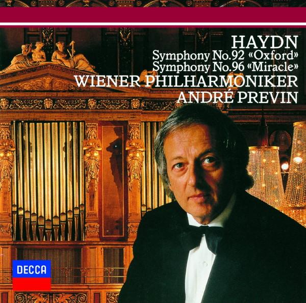プレヴィン/ハイドン:交響曲第92番「オックスフォード」&第96番「奇蹟」