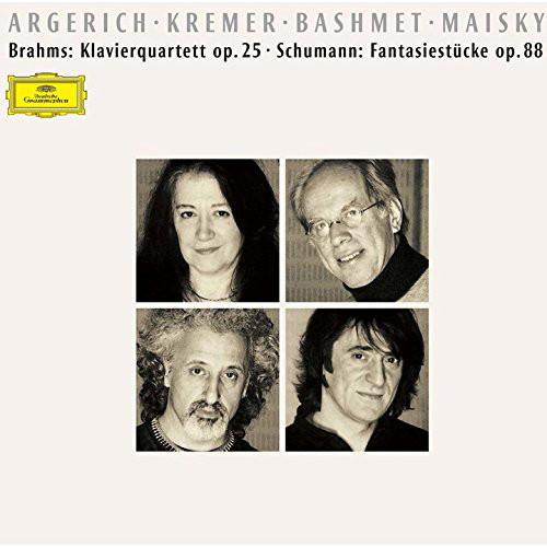 アルゲリッチ/ブラームス:ピアノ四重奏曲第1番、シューマン:幻想小曲集