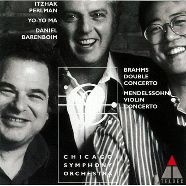 パールマン/ヨーヨー・マ/バレンボイム/ブラームス:二重協奏曲/メンデルスゾーン:ヴァイオリン協奏曲