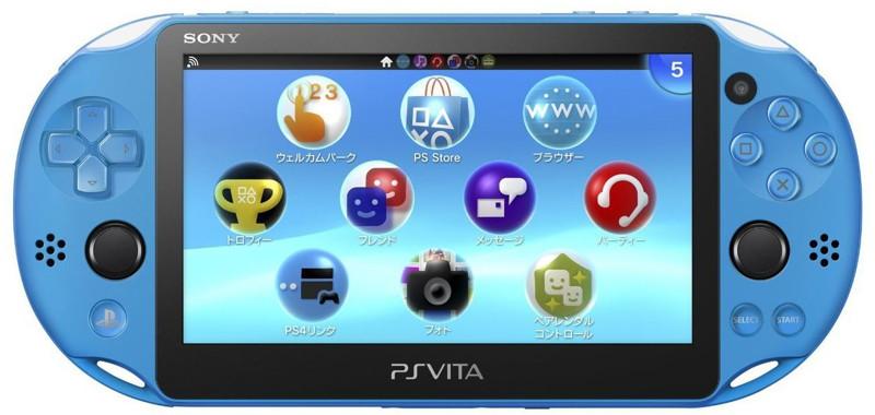 【本体】 PlayStation Vita Wi-Fiモデル アクア・ブルー