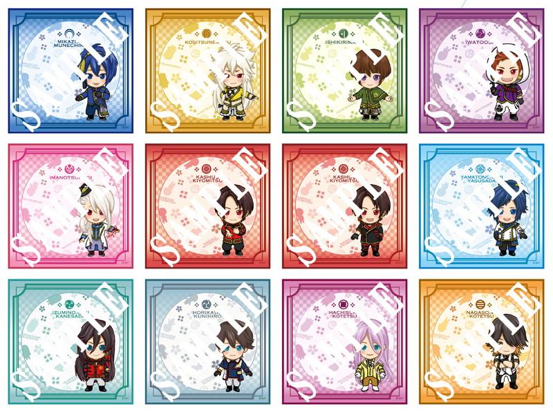 真剣乱舞祭 2016 上映会 デフォルメキャラクターミニタオル 全セット(不織布オリジナルバッグ付)