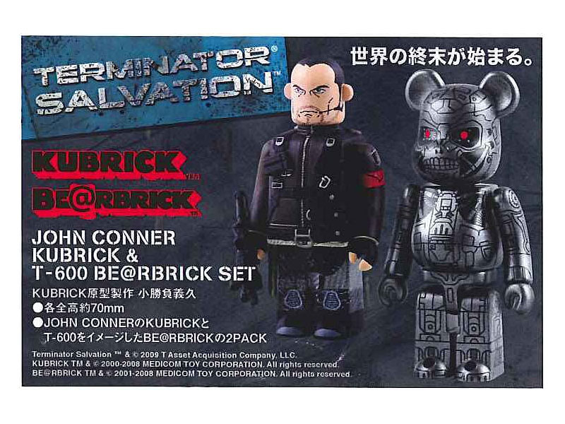 JOHN CONNER KUBRICK & T-600 BE@RBRICK SET