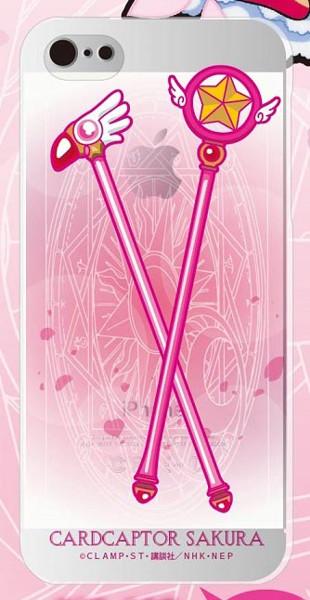 カードキャプターさくら iPhone5/5S対応シェルジャケット 星の杖+封印の杖
