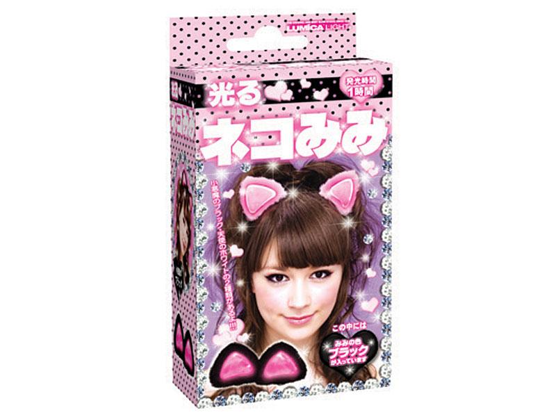 12個セット ルミカライト 光るネコみみ BLACK