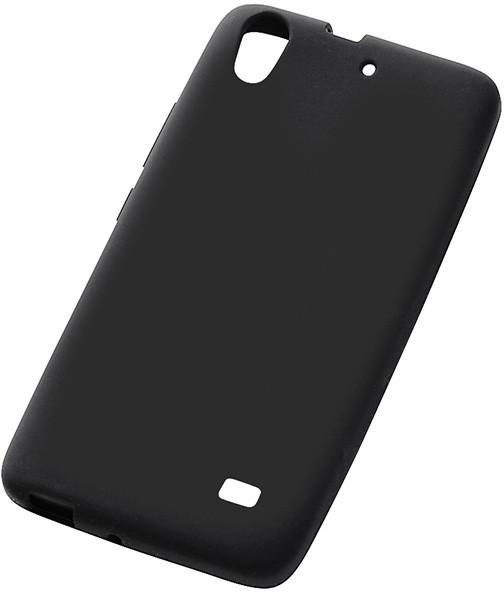Ascend G620S対応 シルキータッチ・シリコンジャケット ブラック