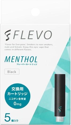 FLEVO メンソール フレーバーカートリッジ [ブラック] (5個入り)
