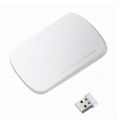 【クリックでお店のこの商品のページへ】サンワサプライ 2.4GHzワイヤレス 光学式マウス MA-TOUCH1W ホワイト