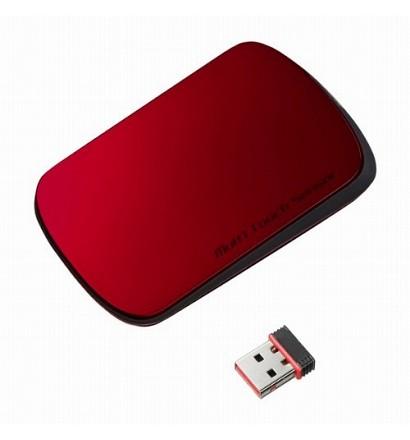 【クリックでお店のこの商品のページへ】サンワサプライ 2.4GHzワイヤレス 光学式マウス MA-TOUCH1R レッド