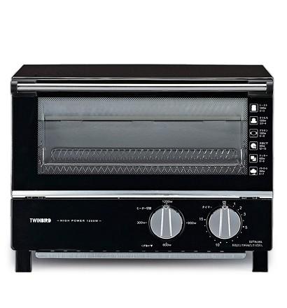 【クリックでお店のこの商品のページへ】TWINBIRD オーブントースター(遠赤塗装) ブラック TS-4019B