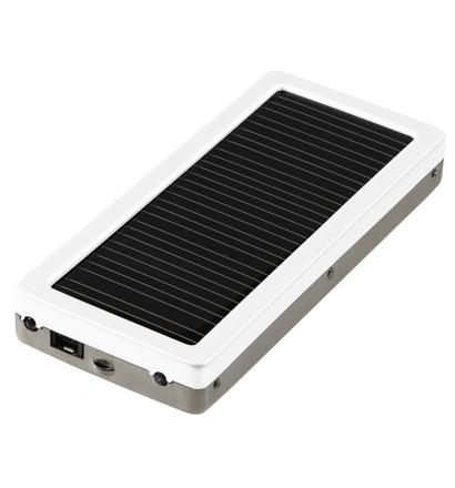 【クリックで詳細表示】GREENHOUSE ケータイ・スマートフォン・iPod・携帯ゲーム機対応 1000mAhバッテリ マルチソーラー充電器 ホワイト GH-SC1000-8AW