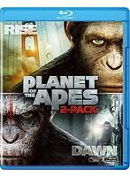 猿の惑星:創世記(ジェネシス)+猿の惑星:新世紀(ライジング) ブルーレイセット<2枚組>[初回生産限定] (ブルーレイディスク)