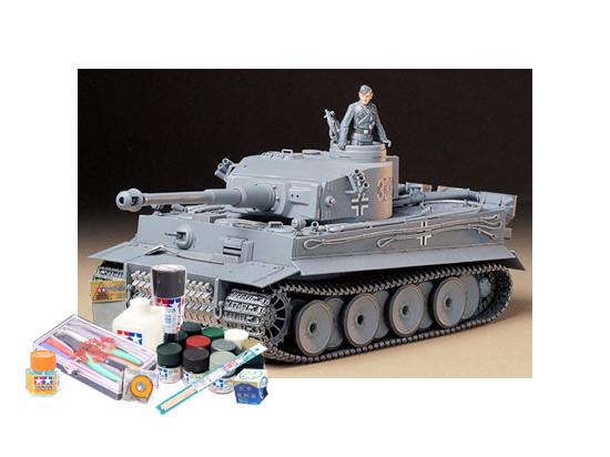 プラモデル制作セット 1/35スケール ドイツ重戦車 タイガーI 初期生産型