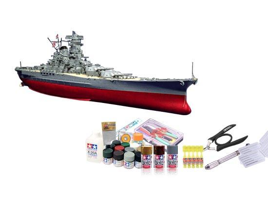 プラモデル制作セット 1/350スケール 日本海軍 戦艦 大和