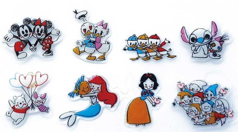 Disney キャラクターソフトシール LOVE LOVE