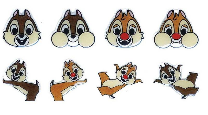 Disney キャラクターソフトシール チップ&デール