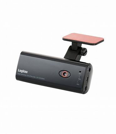 ロジテック ドライブレコーダー/HD画質/GPS対応/マイク搭載/PCソフト付 LVR-SD300HDBK