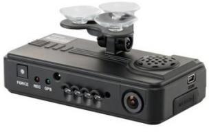 ロジテック ドライブレコーダー/2カメ/GPS対応/マイク搭載/PCソフト付 LVR-SD500GBK