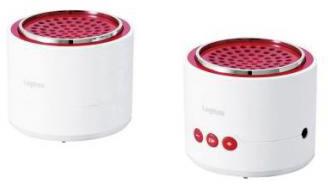 ロジテック Bluetooth/携帯用スピーカー/小型セパレートタイプ/apt-X対応/ホワイト/レッド LBT-MPSPP50WHRD
