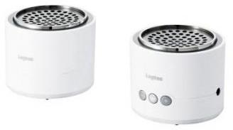ロジテック Bluetooth/携帯用スピーカー/小型セパレートタイプ/apt-X対応/ホワイト/シルバー LBT-MPSPP50WHSV