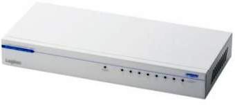 ロジテック ギガビットイーサHUB/8ポート/電源内蔵/メタル LAN-GSW08P/MA