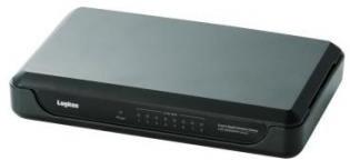 ロジテック ギガビットイーサHUB/8ポート/電源外付け/プラスチック/ブラック LAN-GSW08/PHB