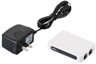 ロジテック イーサネットHUB/超小型/電源外付け/ACアダプタ付/5ポート/ホワイト LAN-SW05/PSW