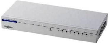 ロジテック イーサネットHUB/電源内蔵/メタル/8ポート LAN-SW08P/M