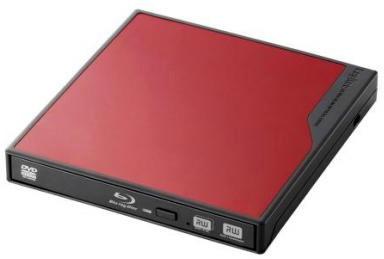 ロジテック USBバスパワー対応ポータブルBDユニット/3D再生/BDXLライティング付き/USB3.0搭載/レッド LBD-PME6U3VRD